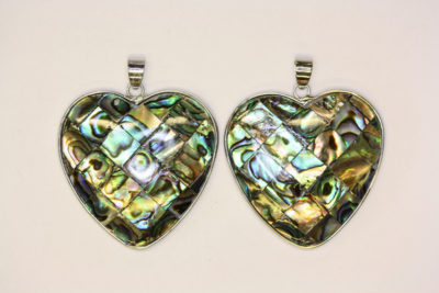 Abalone anheng hjerte 37mm