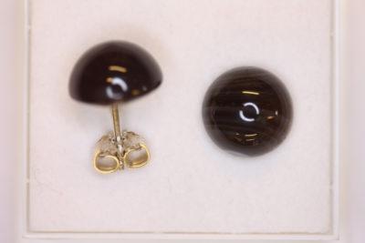Agat Botswana sølv ørestikker med 11mm stein