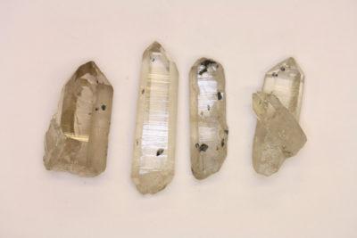 Anatas krystaller på bergkrystall 3 til 4cm