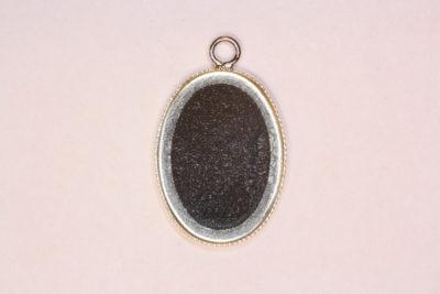 Anheng oval 13x18mm Sølv