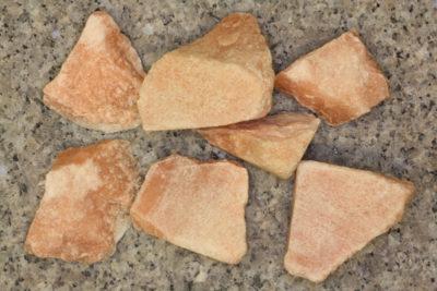 Aragonitt gul råsteinsbit 2 til 3cm