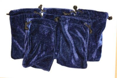 Smykkepose blå fløyel 7.5x12cm