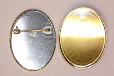 Brosje oval 30x40mm  Sølv