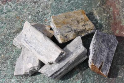 Diopsid krystaller fra Nordland 3 til 5cm