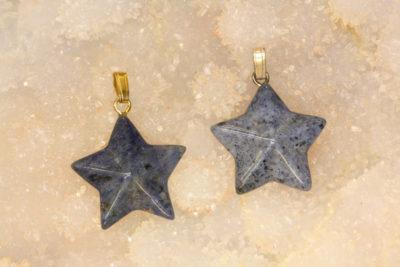 Dumortieritt stjerne anheng ca 2cm
