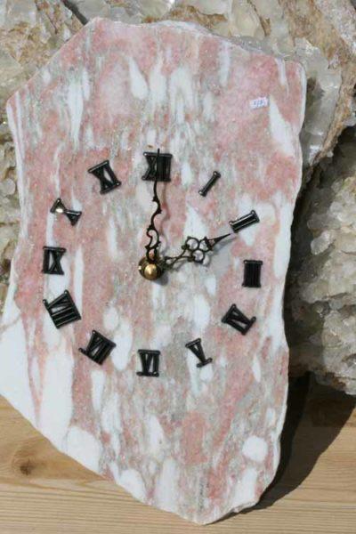 Fauske marmor vegg klokke 14x24cm
