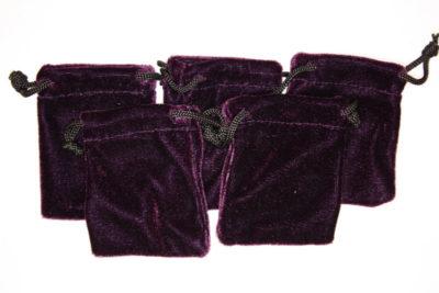 Smykkepose fiolett fløyel 6.5×8.5cm