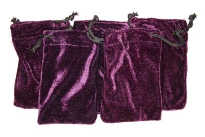 Smykkepose fiolett fløyel 7.5x12cm