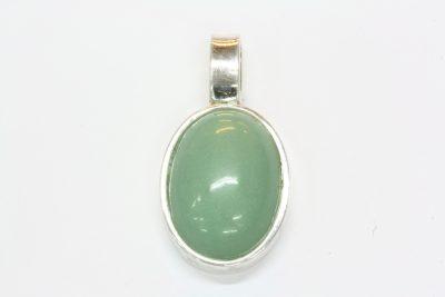 Aventurin grønn sølv anheng med 13x18mm stein