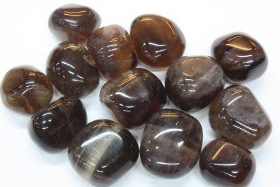 Fluoritt brun polert ca 2cm