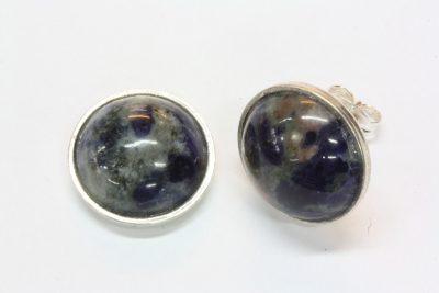 Sodalitt A sølv ørestikker med ø 12mm stein