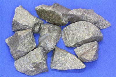 Svovelkis råsteinsbit 2 til 3cm fra Hjerkinn gruve på Dovre
