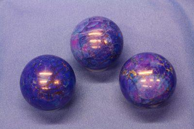 Magnesitt farget blå kule ca ø40mm