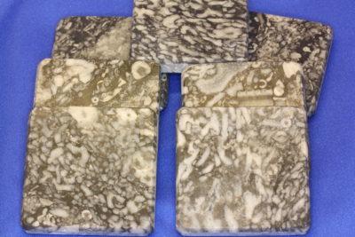 Calcitt fossil polert plate ca 5x5cm