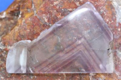 Fluoritt Kina to sider polert plate 160g 7x10cm 1cm tykk