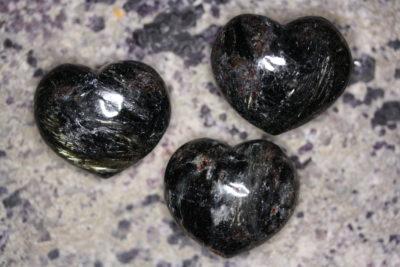 Anthophyllitt lommehjerte 35mm