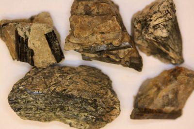 Acmitt krystaller i moderstein 4 til 6cm grupper