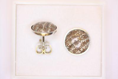 Rhyolitt sølv ørestikker med 10mm stein