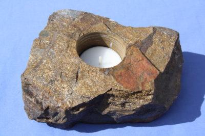 Bronsitt T lys holder 1.6kg 6cm høy