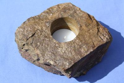 Bronsitt T lys holder 1.35kg 7cm høy