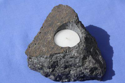 Porfyr stjerne T lys holder 1kg 7cm høy fra Kjellandsvik på Jeløya