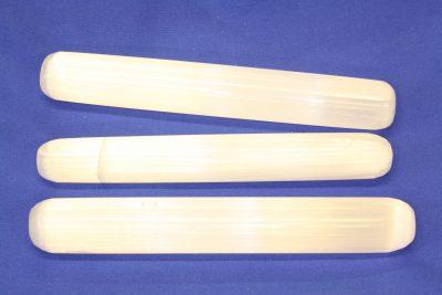 Selenitt hvit massasjestav ca 15cm lang
