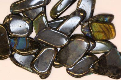 Spektrolitt sort polert tynne flate 2 til 3cm