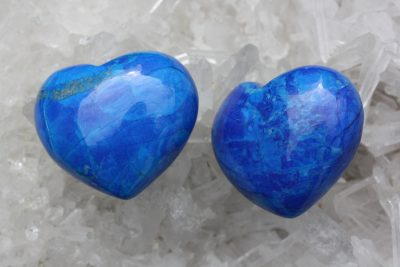 Magnesitt farget blå lommehjerte 45mm