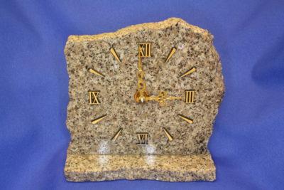 Granitt fotklokke   14cm bred 13cm høy