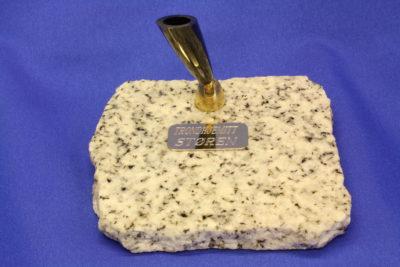 Granitt hvit pennholder 9x10cm