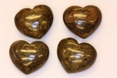 Bronsitt lommehjerte 35mm