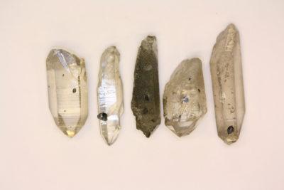 Anatas krystaller på bergkrystall 2 til 4cm