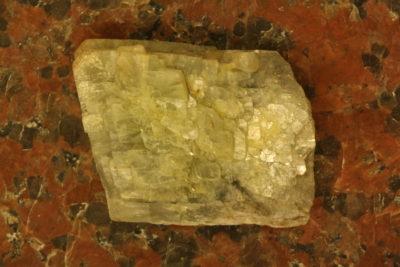 Barytt blå krystall fra Styggedal i Tråk 39g 3×3.5cm