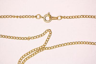 Kjede gull farget 41cm