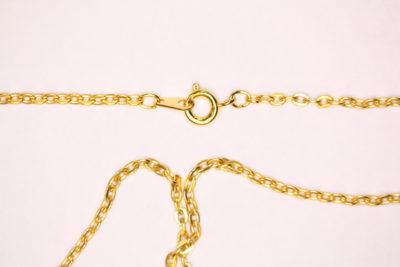 Kjede gull farget 56cm