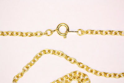 Kjede gull farget 62cm