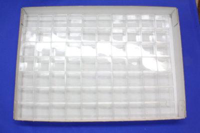 70 stk Mikrobokser 28x28mm 22mm høye i A4 eske