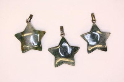 Agat mose stjerneanheng 20mm