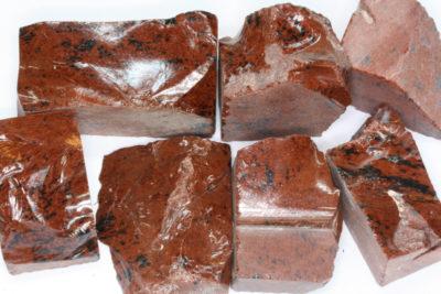 Obsidian mahogny  råsteinsbit 3 til 5cm