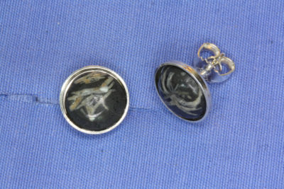 Porfyr stjerne sølv ørestikker med 10mm stein fra Kjellandsvik på Jeløya