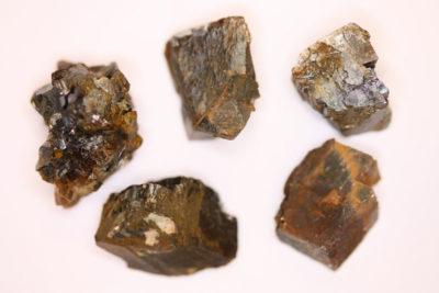 Sideritt ca 1.5cm  fra Ivigtut på Grønland i mikroeske