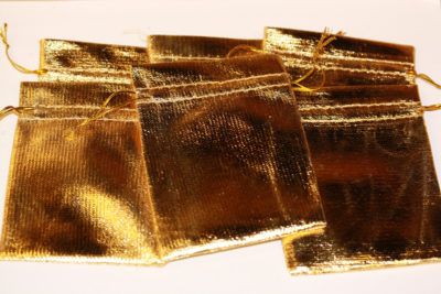 Smykkepose gull 9x12cm