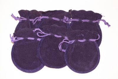 Smykkepose lilla velur 8x9cm