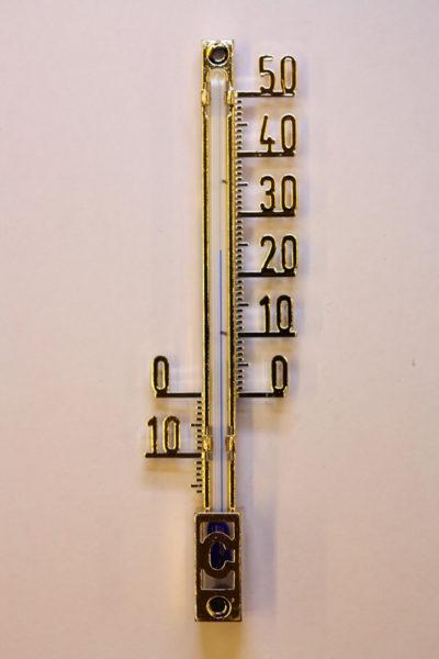 Termometer 10cm gullfarge