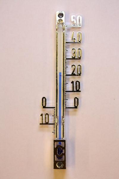 Termometer 10cm sølvfarge