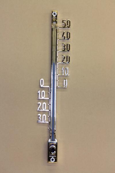 Termometer 16cm sølvfarge