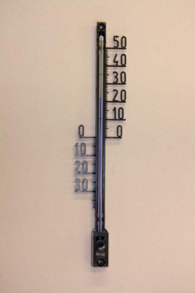 Termometer 16cm sort