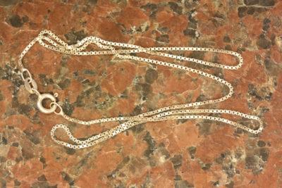 Sølv 925 kjede Venetiansk 1mm 42cm