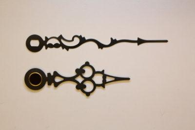 Visere sort barokk 43mm
