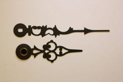 Visere sort barokk 51mm